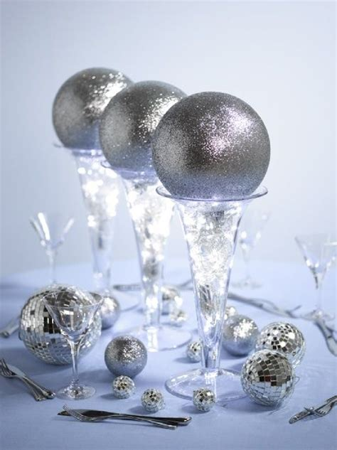 Glitter Ball Centerpieces & Welcome Vanessa