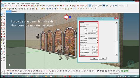 tutorial omni light vray sketchup render master at work stained glass tutorial in sketch up