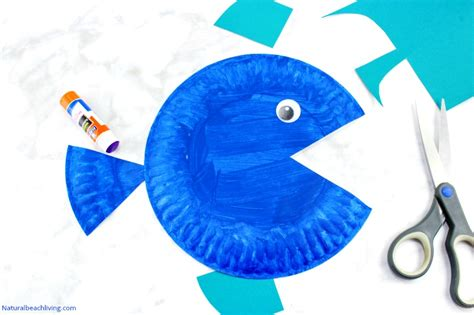 Paper Plate Fish Craft - paper plate fish craft for