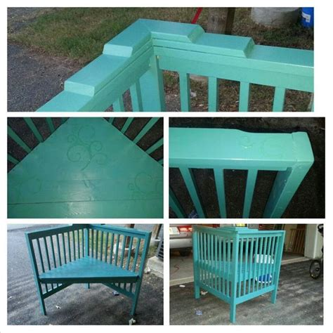Upcycled Crib To Corner Bench Me Crafts Pinterest Corner Crib Bedding