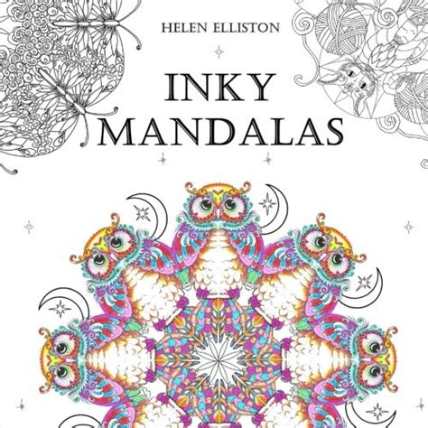 inky mandalas themed mandalas for relaxation inky