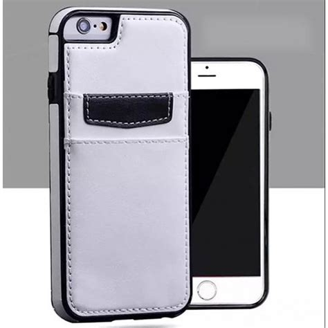 wholesale iphone     leather style credit card case white