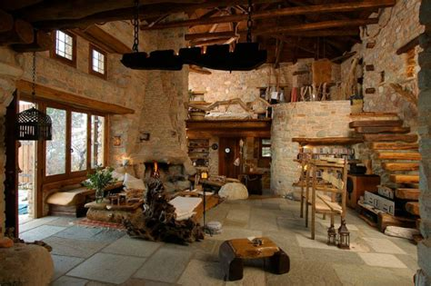traditional homes and interiors traditional stone house for a way of life simple and