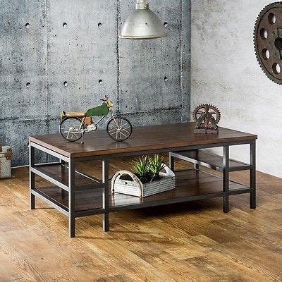 industrial coffee table rustic cocktail living room