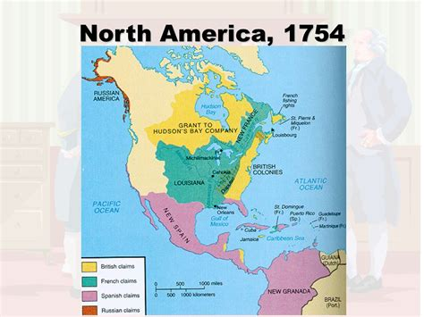 america map in 1754 ss8h3a revolution in ppt
