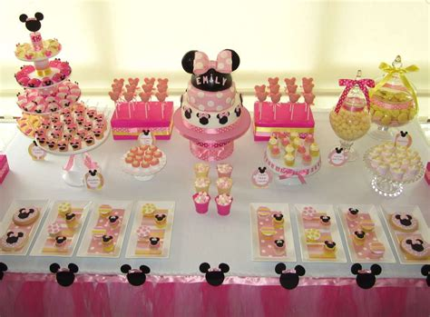 themes of girl birthday party ideas for girls minnie mouse www pixshark
