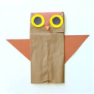 Owl Paper Bag Craft - owl paper bag craft scrapbook paper idea