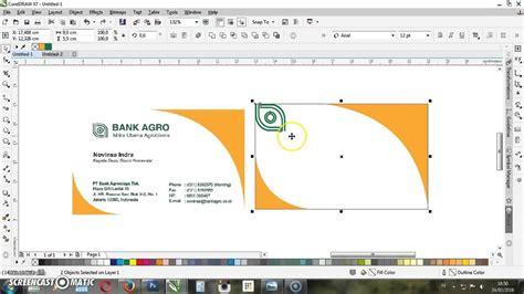 membuat undangan dengan corel draw x7 cara membuat id card coreldraw x7 tutorial corel membuat
