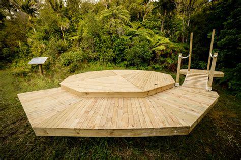 building a tent platform building a diy rope bridge living big in a tiny house