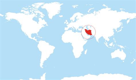 location of iran on world map where is iran located on the world map
