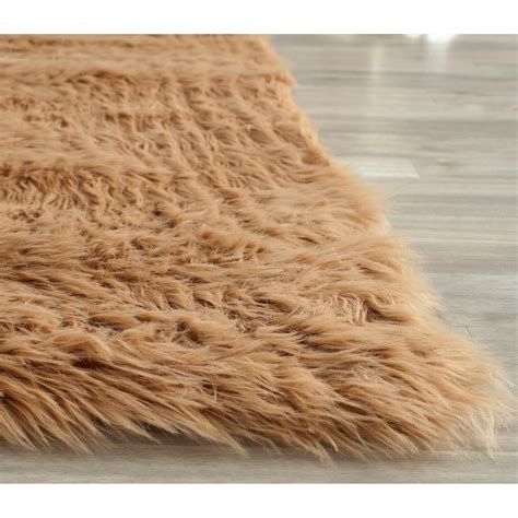 how to make a faux fur rug safavieh faux fur sheepskin shaped rug 8x10 save 60