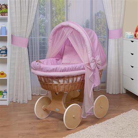 culle in vimini rivestite waldin passeggino culla per neonato nuovo rosa ebay