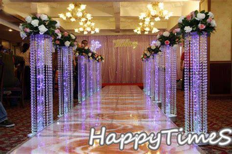 Wedding Cylinder Vases Centerpiece Ideas 6pcs Lot Wedding Crystal Pillar With Acrylic Bead Wedding