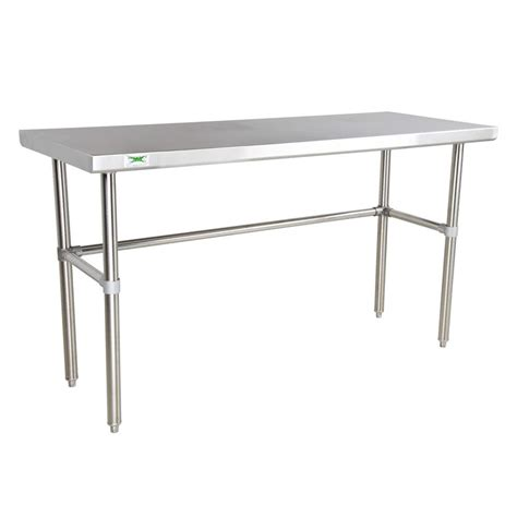 stainless steel shop desk regency 16 gauge 30 quot x 72 quot stainless steel commercial open