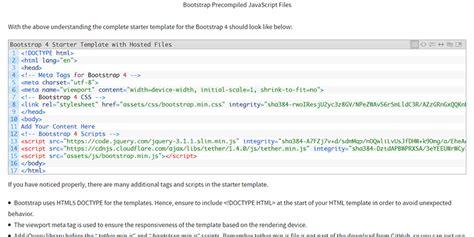 10 Free Minimal Bootstrap Framework Starter Templates Bootstrap 4 Starter Template