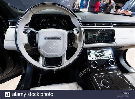 land rover velar interior detail of interior of land rover velar luxury suv on