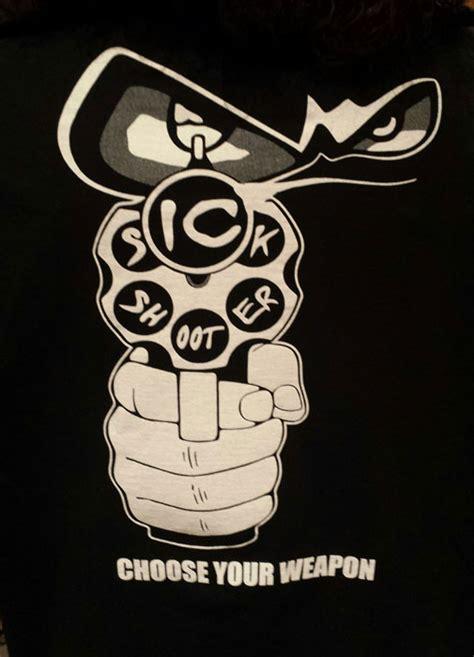 Lettering Sleeve Shirt black t shirt white lettering sleeve sickshooter