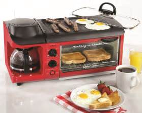 How To Make Bacon In The Toaster Oven Nostalgia Electrics 3 In 1 Breakfast Station Kitchenware