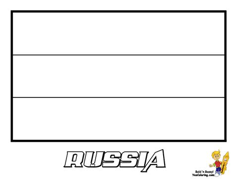 free coloring pages of russia flag color