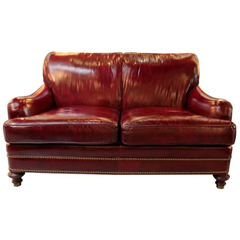 leather loveseat with nailhead trim cordivan leather loveseat with antiqued brass nailhead