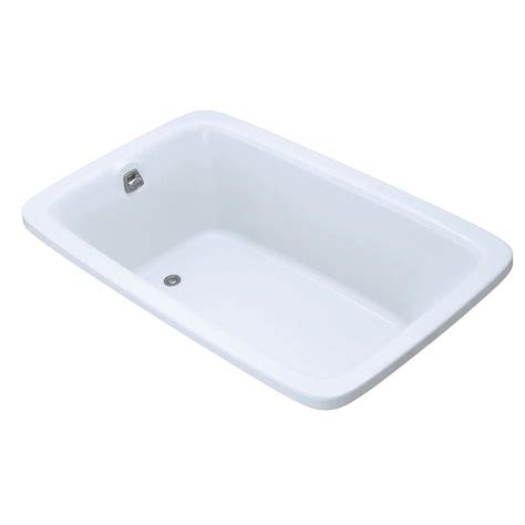 bathtub home depot kohler bancroft 5 5 ft acrylic rectangular drop in non