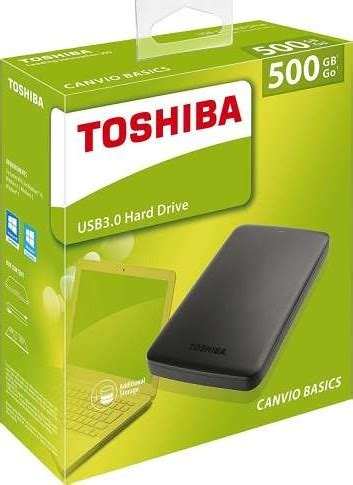 Hardisk Eksternal Toshiba 500gb Usb 3 0 toshiba 500gb canvio basics usb 3 0 2 5 inch ext hdd black hdtb305ek3aa buy best price in