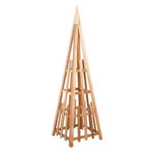 Pyramid Trellis Cedar Rot Resistant And Insect Resistant Obelisk Pyramid