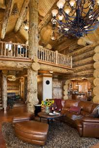Log Cabin Homes Interior Living Rooms