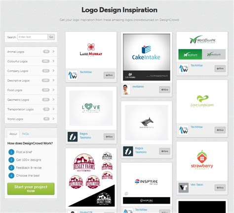 design inspiration gallery designcrowd launches the logo crowdsourcing inspiration