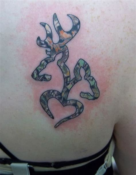 browning deer tattoo designs browning deer and done in camouflage and