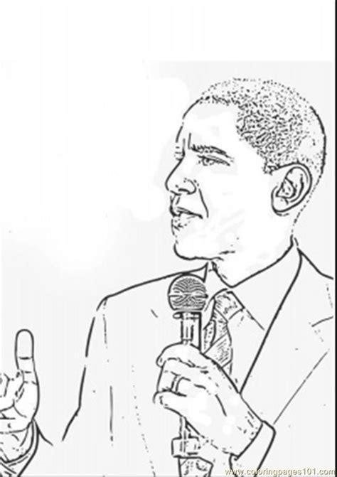 barack obama coloring page pdf barack obama is talking coloring page free politics