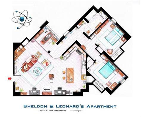 tv apartment floor plans famous television show home floor plans sheldon and