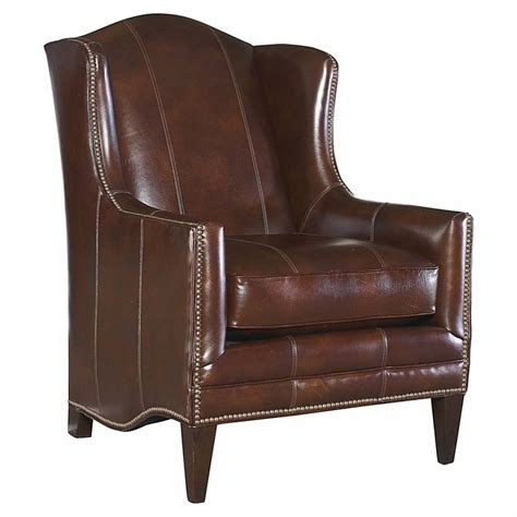 Bassett Leather Chair And Ottoman Fleming Leather Chair By Bassett Furniture Bassett Chairs Recliners Ottomans