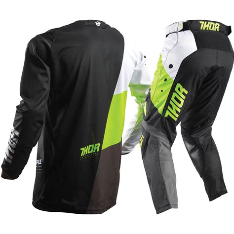 youth thor motocross gear thor 2017 mx new pulse aktiv jersey pants lime green black