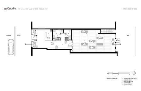 yoga studio floor plan ritual house of yoga gocstudio archdaily