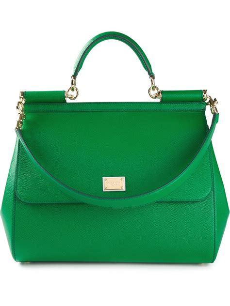 Dg Dolce Gabbana Oversized Nautical Tote by Dolce Gabbana Large Sicily Tote In Green Lyst