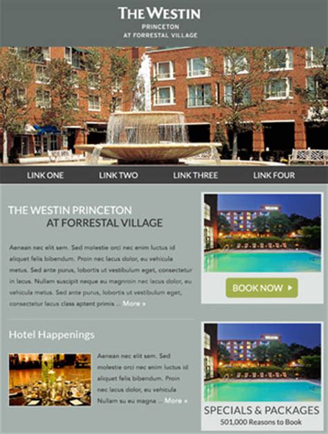 hotel newsletter layout hotel email responsive caigns