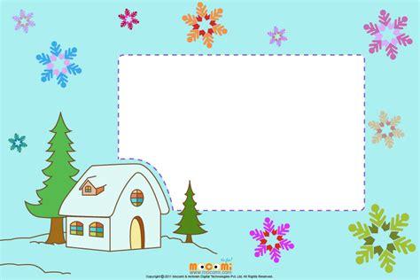 printable frames for children s work christmas at home printable photo frames for kids mocomi