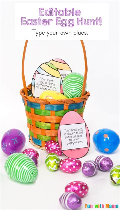easter egg hunt ideas for adults editable easter egg scavenger hunt fun with mama