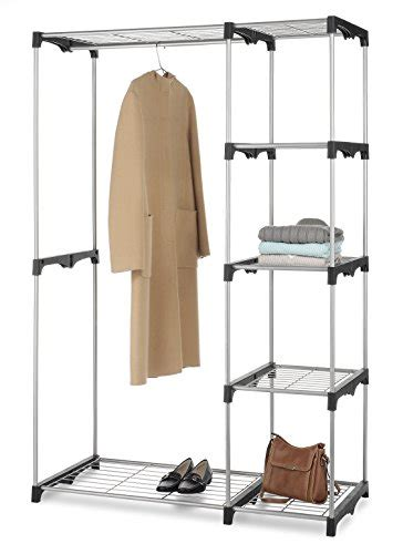 Whitmor Rod Freestanding Closet by Whitmor Rod Closet Freestanding Silver Black