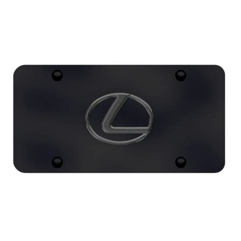lexus logo black personalized lexus logo black chrome on black license