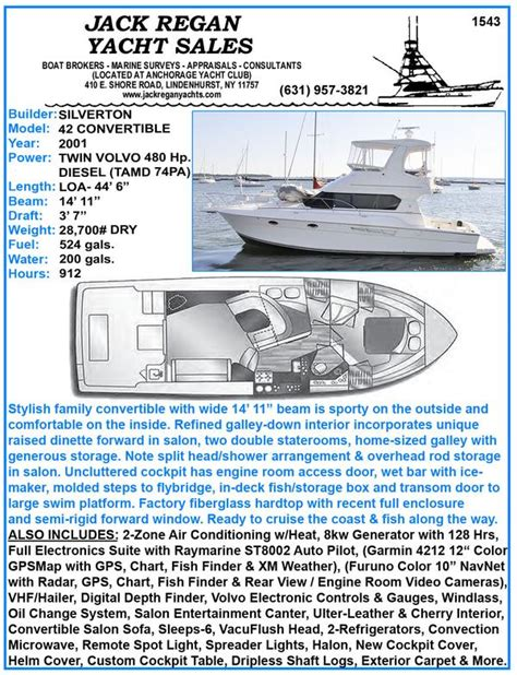 silverton boats for sale on long island 42 silverton 42 convertible 2001 long island ny