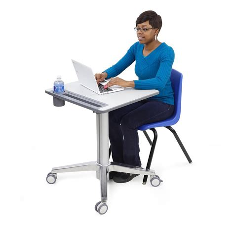 Sitting To Standing Desk Ergotron Learnfit Sit Stand Desk Seated