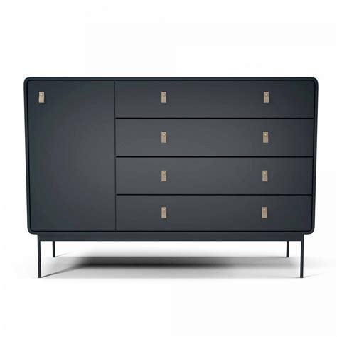 Commode En Cuir by Commode L Anthracite Cuir Bolia