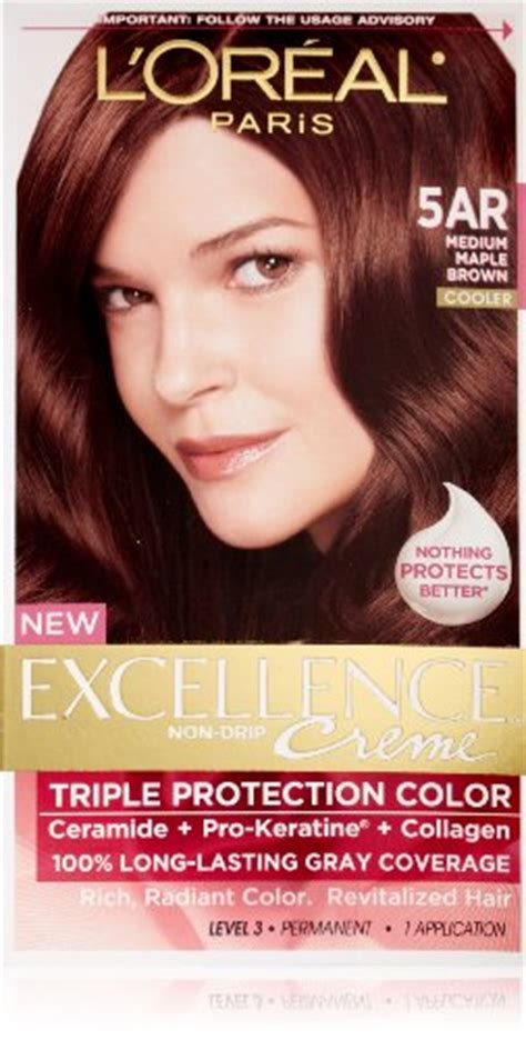 l oreal excellence creme permanent hair color medium ash brown 5 1 1 74 oz pack of 3 l oreal excellence creme hair color 5ar medium maple brown best deals with price