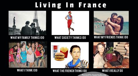 French Canadian Meme - living in france travel meme what people think i do vs