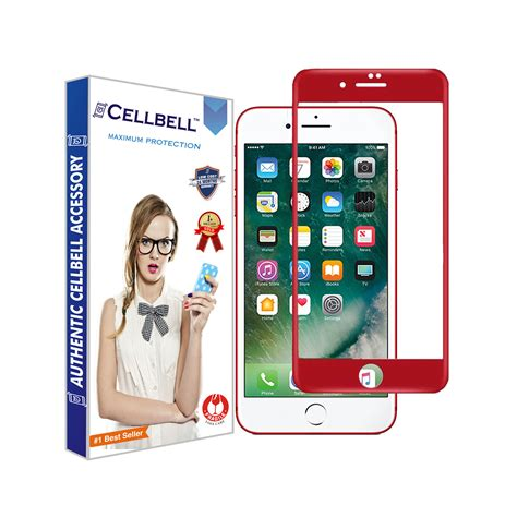 Tempered Glass Color 5d Iphone 7 Plus apple iphone 7 plus 4d tempered screen glass cellbell