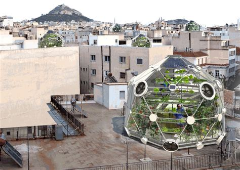 eco green house design the globe hedron is a geodesic greenhouse for urban farmers