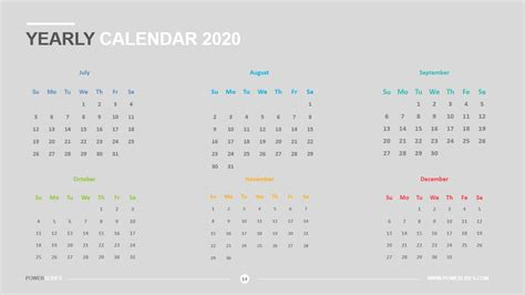 yearly calendar    powerslides
