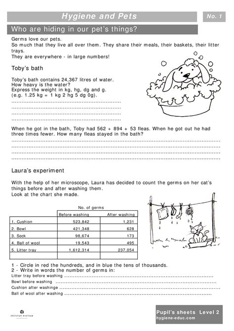 printable hygiene activity sheets personal grooming worksheets lesupercoin printables